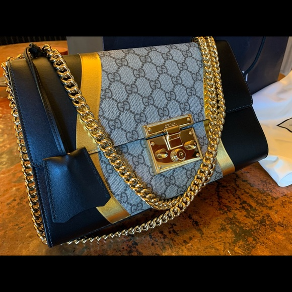 Gucci Handbags - Authentic Gucci Medium Padlock Shoulder Bag